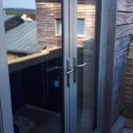 glass doors into garden from outside