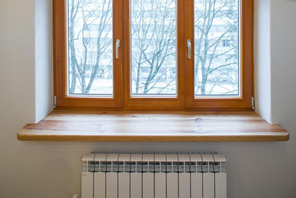 wooden windows overlooking trees