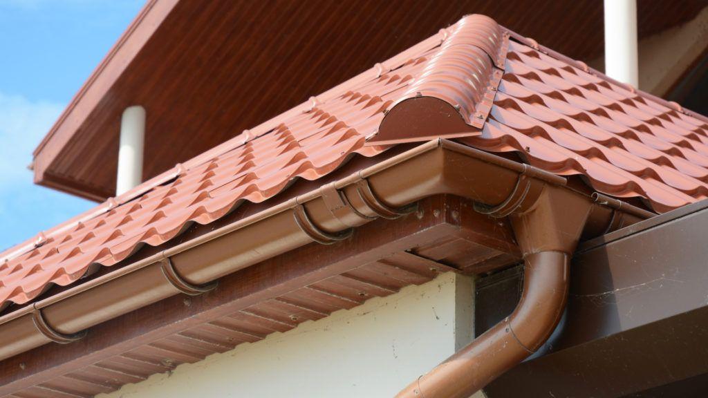 brown guttering fascias
