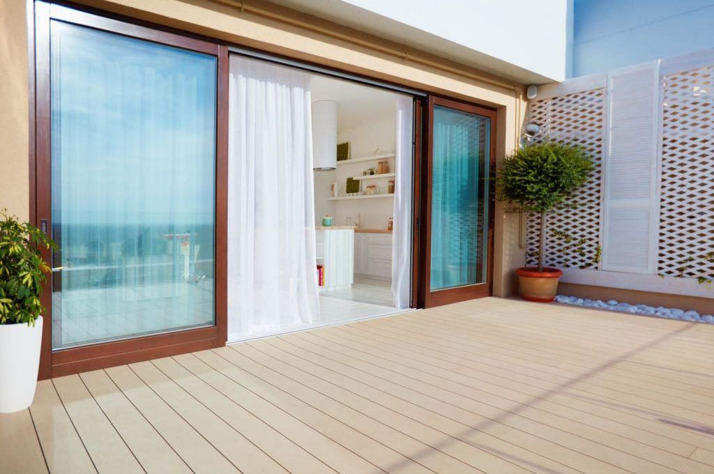 sliding doors from outdoors